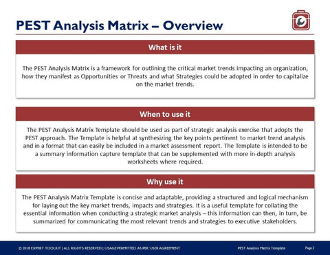 Ready to use pest analysis trend matrix template by expert toolkit pest analysis trend matrix guide template template maxwellsz