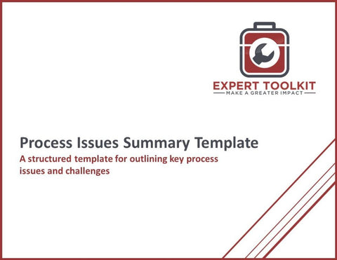 Process Issues Summary Guide & Template - Default - Template