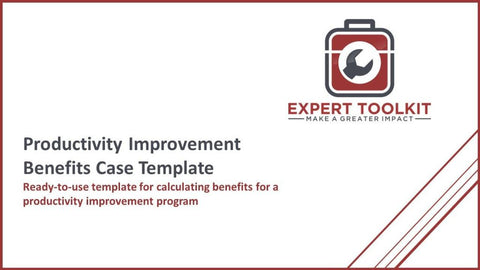 Productivity Improvement Benefits Case Template - Default - Template