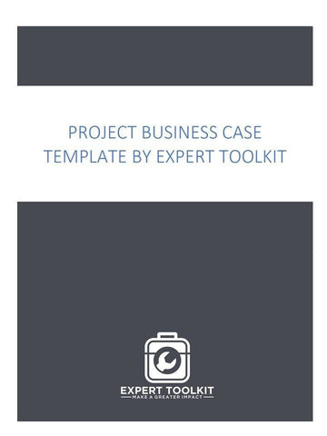 Project Business Case Template - Digital (Word) - Template