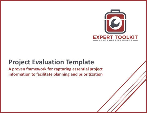 Project Evaluation Template & Guide - Default - Template