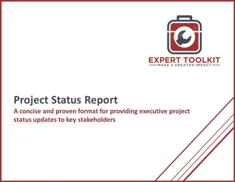 Project Status Report Guide & Template - Default - Template