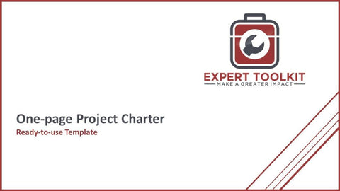 Simple One Page Project Charter Template - Default - Template