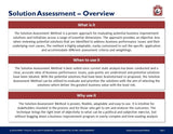 Solution Assessment Method Guide & Template - Template