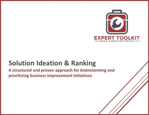 Solution Ideation & Ranking Method Guide & Template - Default - Template