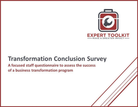 Transformation Conclusion Survey Guide And Template - Default - Template