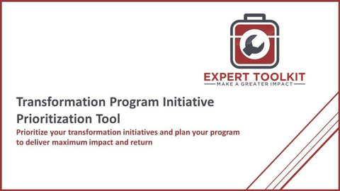 Transformation Initiative Prioritization Tool - Default - Tool