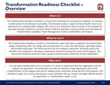 Transformation Readiness Checklist Template & Guide - Template