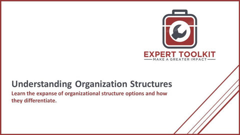 Understanding Organization Structures - by Expert Toolkit - Cover Page