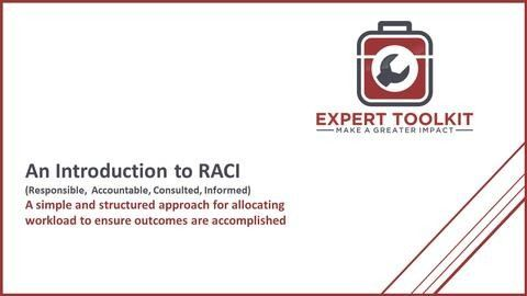 Learn how management consultants use the RACI method to perform business analysis - by Expert Toolkit