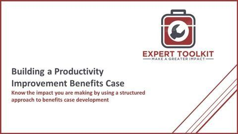 Learn the management consulting approach to business improvement benefits cases - from the team at Expert Toolkit