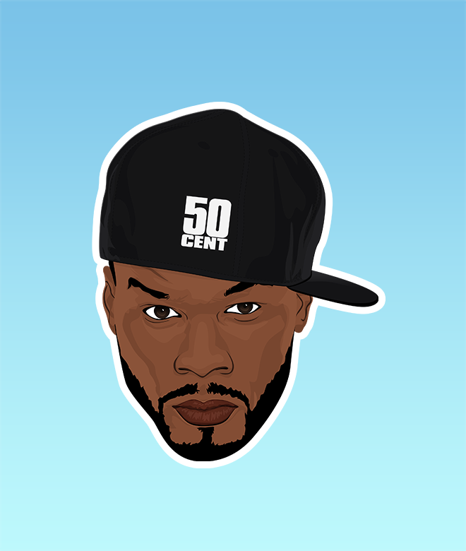 50 Cent Sticker