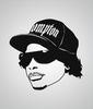 Eazy e Clear Sticker