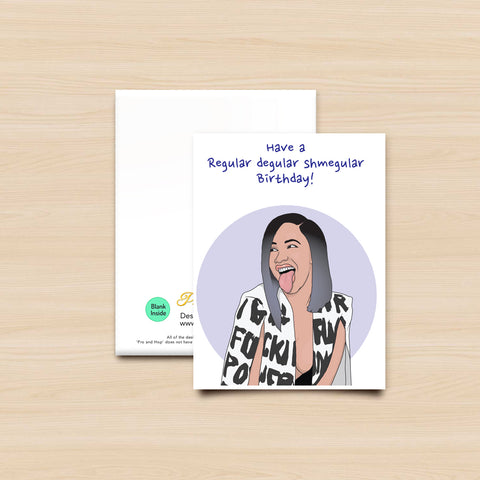 Cardi B Greeting card