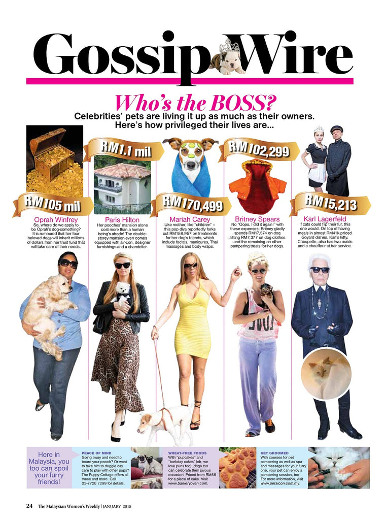 Malaysia Women's Weekly: Here in Malaysia, you too can spoil your furry friends!