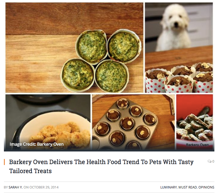 Vulcan Post: Barkery Oven Delivers The Health Food Trend To Pets With Tasty Tailored Treats