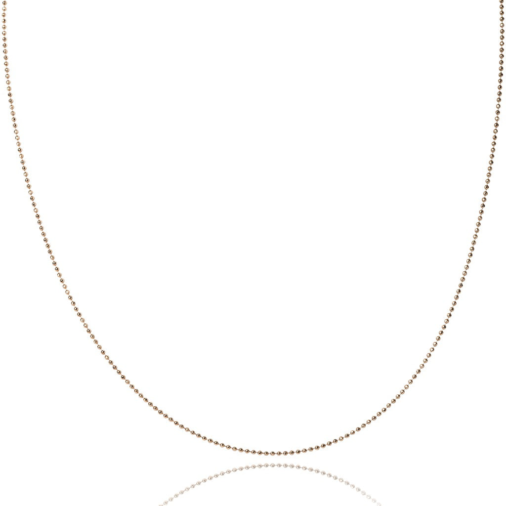 10KT Yellow gold bead chain - Made in Italy