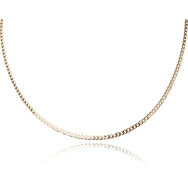 10KT yellow gold curb style chain - Made in Italy.