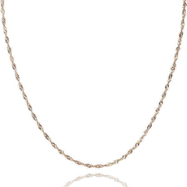 10kt yellow gold singapore style chain - Made In Italy
