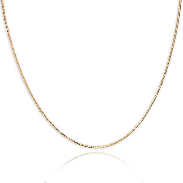10Kt yellow gold franco style chain - Made In Italy