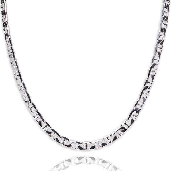 Sterling Silver Flat Gucci style chain - Made in Italy.