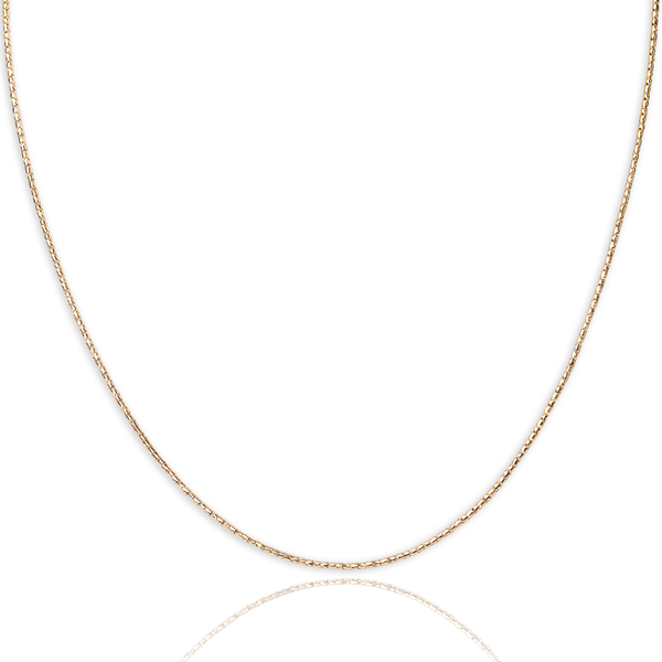 10kt yellow gold korean style chain - Made In Italy