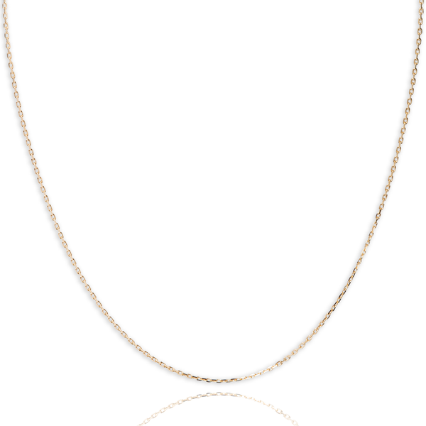 10KT yellow gold diamond cut anchor style chain - Made in Italy