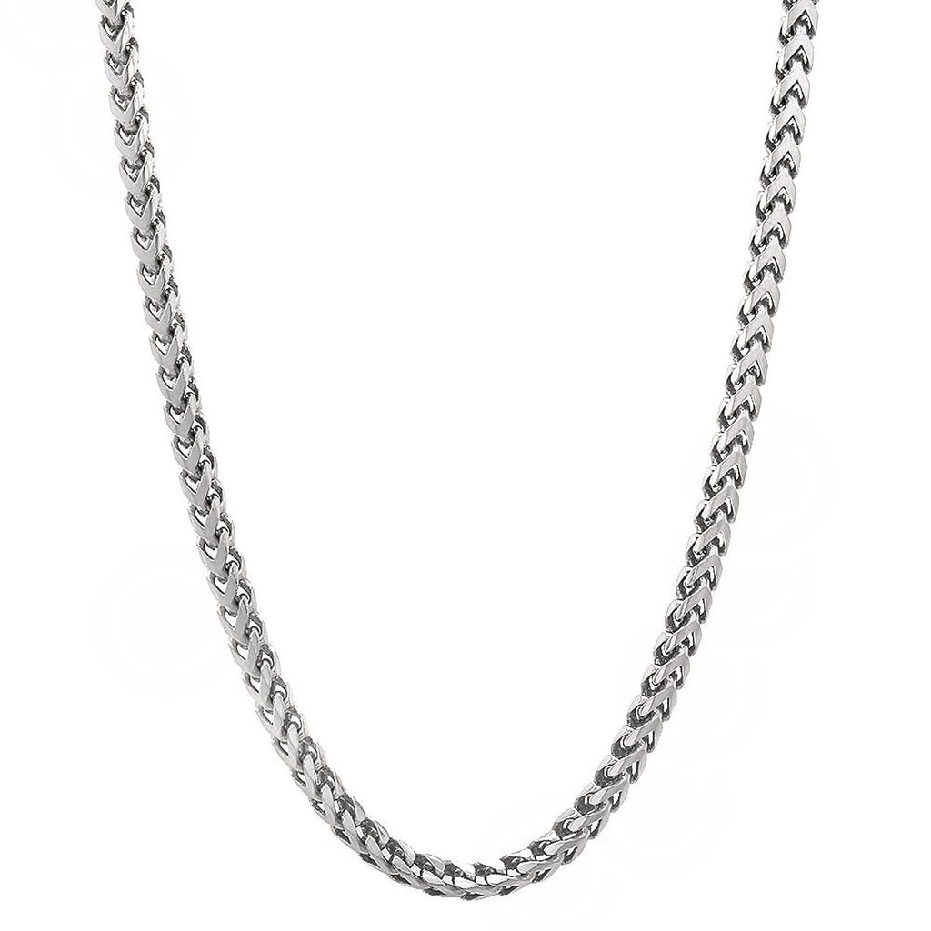 Solid Sterling Silver Franco Chain, Made in Italy. - North Jewellery