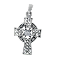 Round plain Celtic Cross - North Jewellery