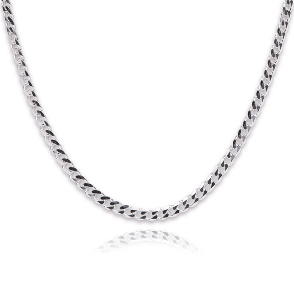 mens sterling mm inch silver chain square box chains link solid