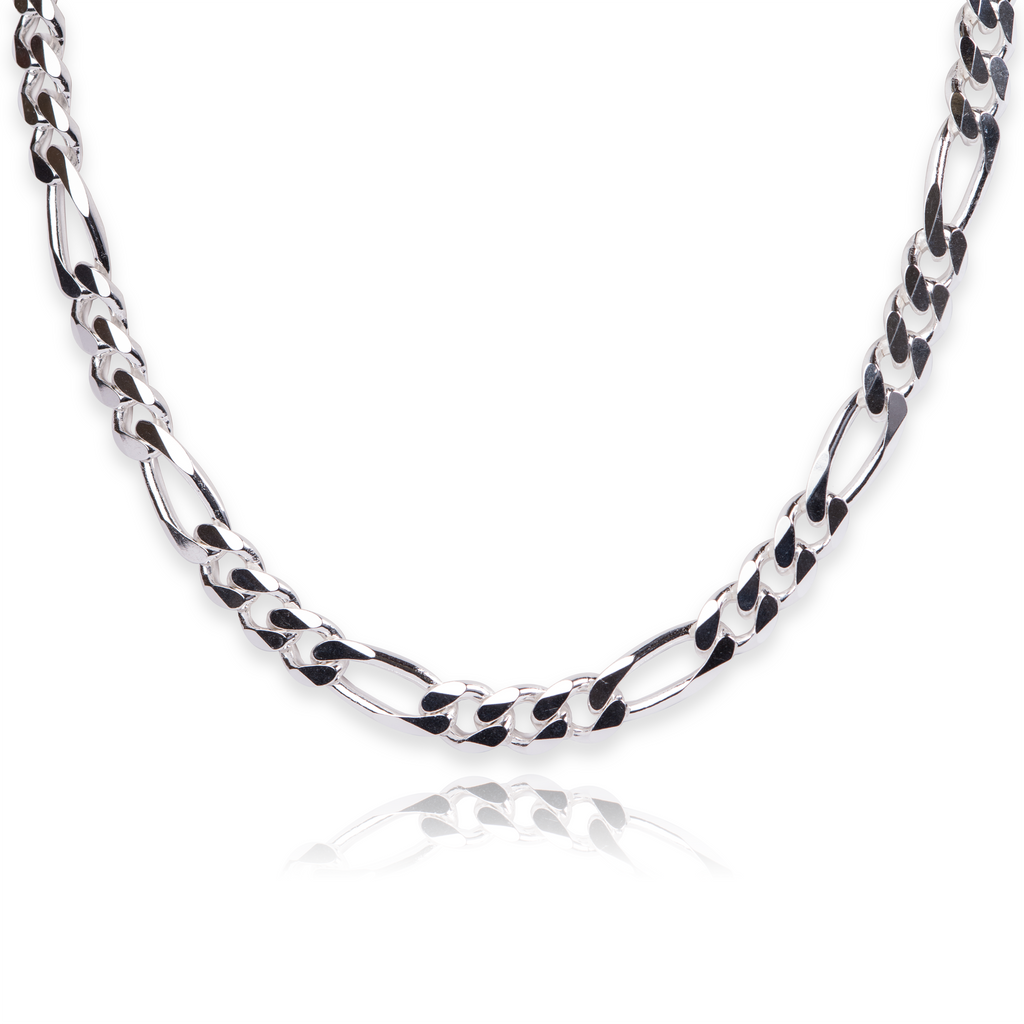 Sterling Silver Figaro Chain - Made In Italy