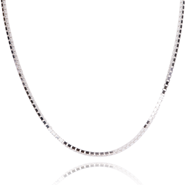 Sterling Silver Box Chain - Made in Italy