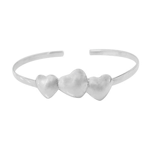 3 Hearts Bangle - North Jewellery