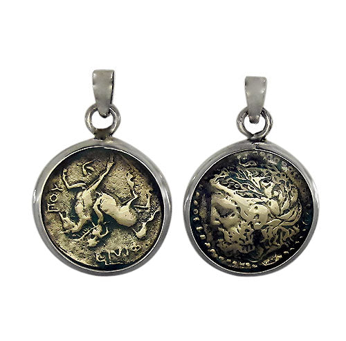 Bronze medallion coin pendant