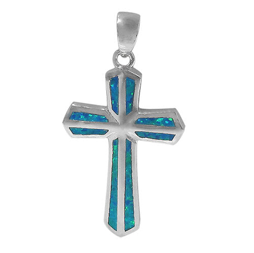 Flat Brimmed Cross with Opal