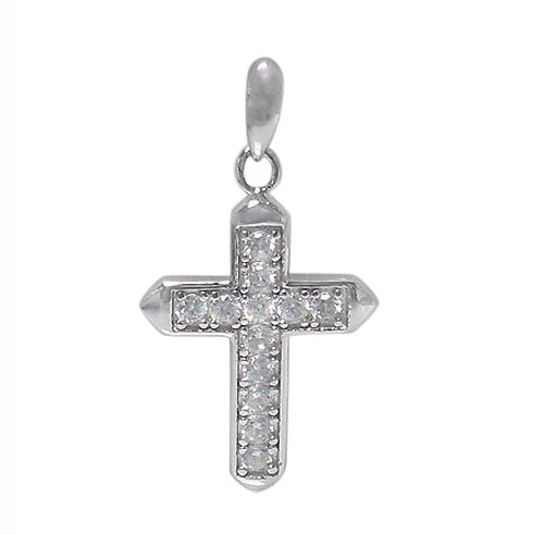 Small Plain CZ Cross