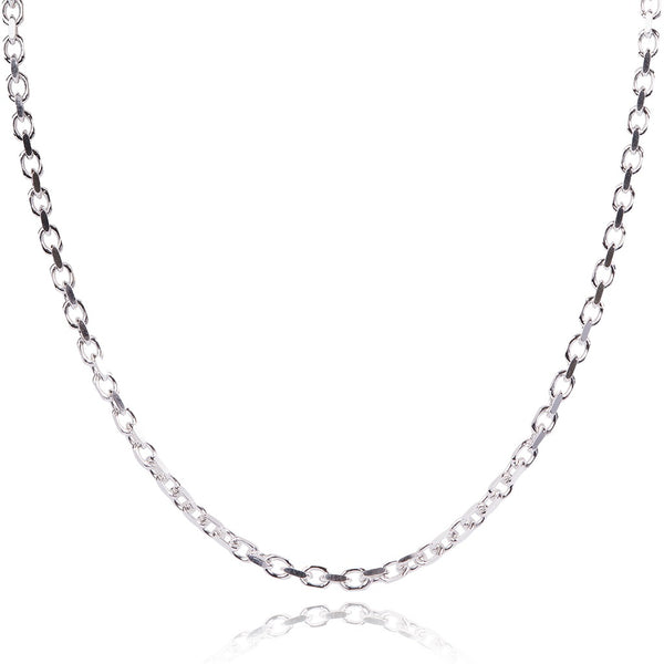 Sterling Silver Rolo Chain - Made In Italy