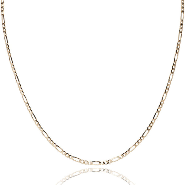 Yellow gold figaro style chain