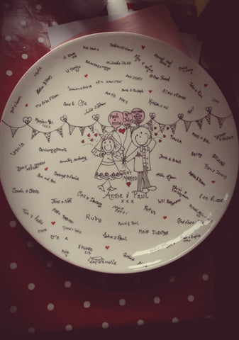 Wedding  Keepsake Plate