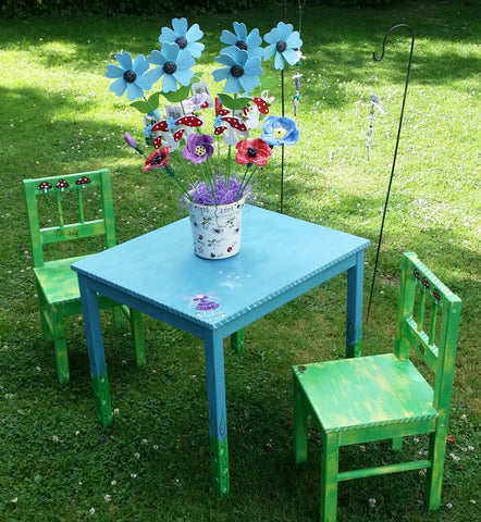 Sold Childen's  Furniture-Table and Chairs by Mandy McKenna - Upcycled Furniture