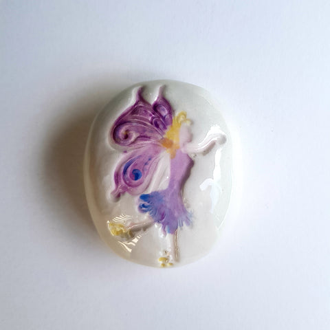 Fairy Keepsake Ceramic Pebbles - Mandy Mckenna Ceramic Artist