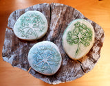 Floral Ceramic Imprint Flower Pebbles - Mandy Mckenna Ceramic Artist