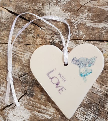 Ceramic Heart Little  Fairy Design-with love