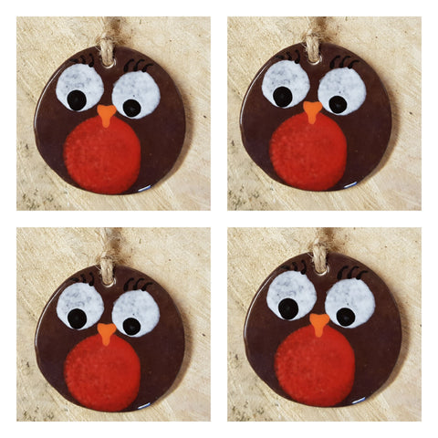 🎄Christmas Fat Robin Set of 4