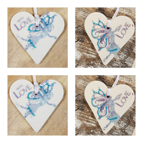 Fairy Ceramic Heart ' with love'