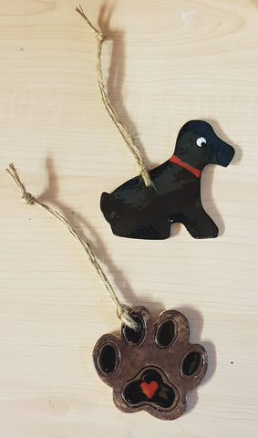 Set of Animal - Dog Keepsake Ceramics - Black