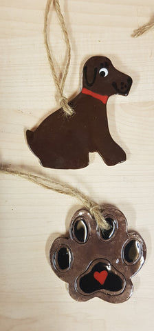 Animal - Dog  Keepsake Ceramics - Dark Brown