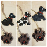 Animal - Dog Keepsake Ceramics -Black & White
