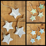 Christmas Stars & Gift Tag Set of 12
