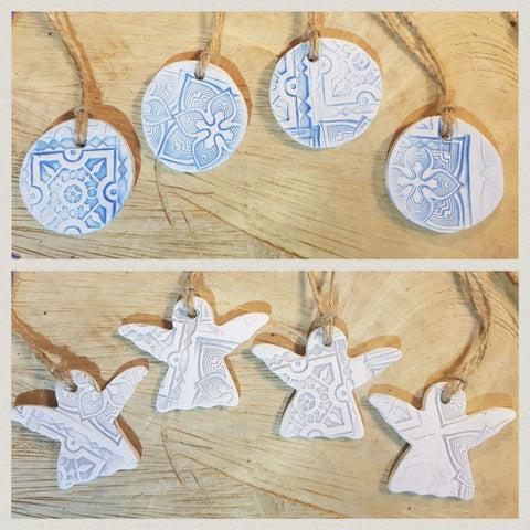 Christmas Angels & Round Bauble Set of 8